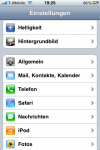 iPhone Einstellungen