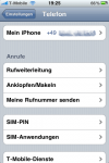 iPhone Einstellungen - Telefon