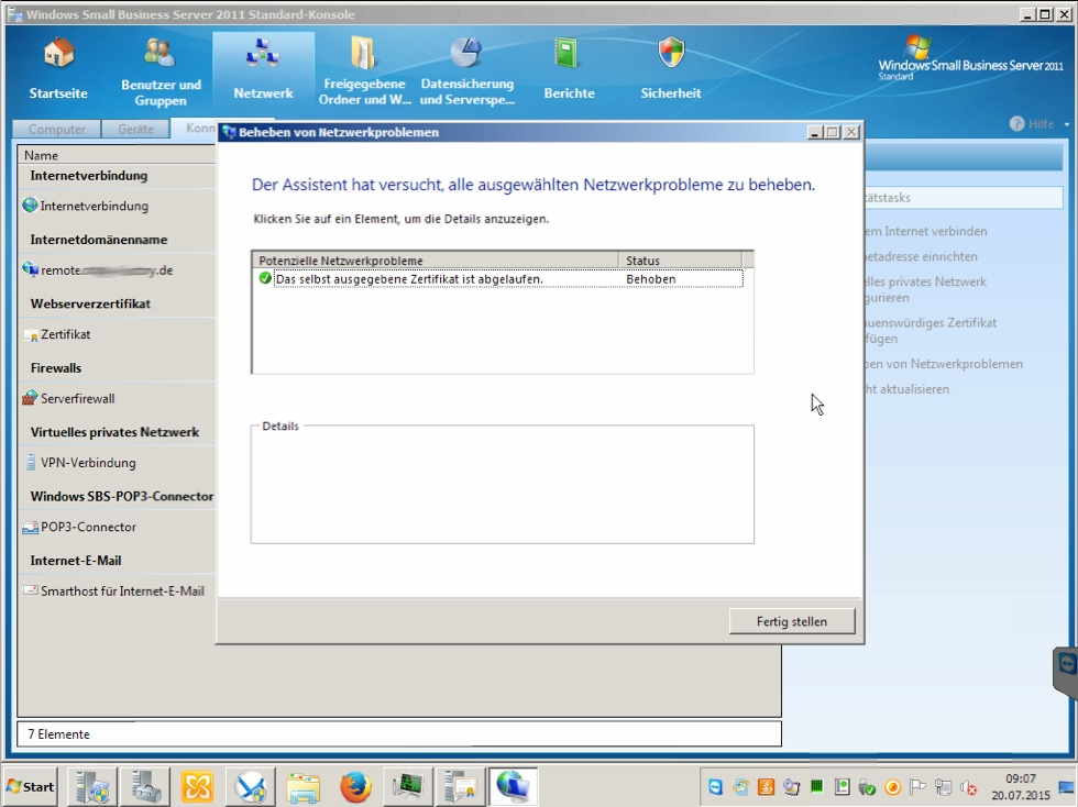 Windows | Small Business Server: abgelaufenes Zertifikat erneuern ...