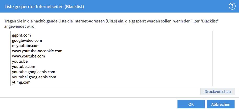fritzbox blacklist